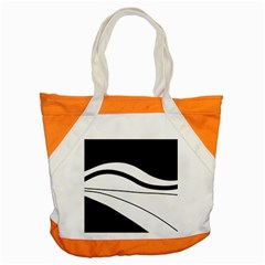 White And Black Harmony Accent Tote Bag by Valentinaart