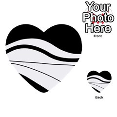 White And Black Harmony Multi Purpose Cards (heart)