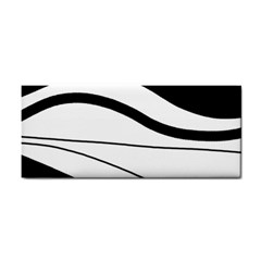 White And Black Harmony Hand Towel by Valentinaart