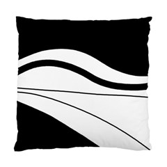 White And Black Harmony Standard Cushion Case (two Sides) by Valentinaart