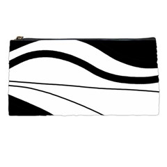 White And Black Harmony Pencil Cases by Valentinaart