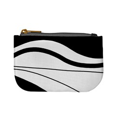White And Black Harmony Mini Coin Purses by Valentinaart