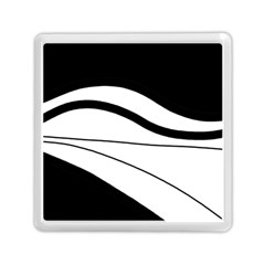 White And Black Harmony Memory Card Reader (square)  by Valentinaart