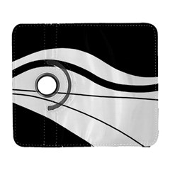 White And Black Harmony Samsung Galaxy S  Iii Flip 360 Case by Valentinaart