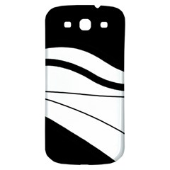 White And Black Harmony Samsung Galaxy S3 S Iii Classic Hardshell Back Case by Valentinaart