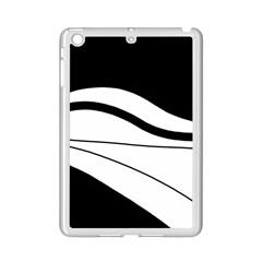White And Black Harmony Ipad Mini 2 Enamel Coated Cases by Valentinaart