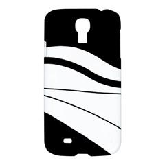 White And Black Harmony Samsung Galaxy S4 I9500/i9505 Hardshell Case by Valentinaart