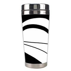 White And Black Harmony Stainless Steel Travel Tumblers by Valentinaart