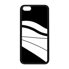 White And Black Harmony Apple Iphone 5c Seamless Case (black) by Valentinaart