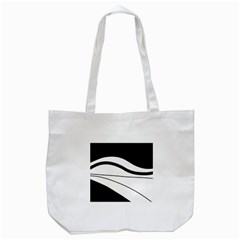 White And Black Harmony Tote Bag (white) by Valentinaart