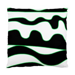 Green, White And Black Standard Cushion Case (two Sides) by Valentinaart