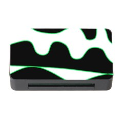 Green, White And Black Memory Card Reader With Cf by Valentinaart