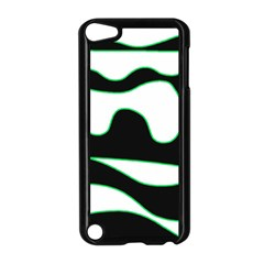 Green, White And Black Apple Ipod Touch 5 Case (black) by Valentinaart