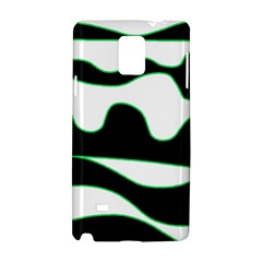 Green, White And Black Samsung Galaxy Note 4 Hardshell Case by Valentinaart