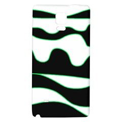 Green, White And Black Galaxy Note 4 Back Case by Valentinaart