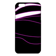 Purple, White And Black Lines Iphone 6 Plus/6s Plus Tpu Case by Valentinaart