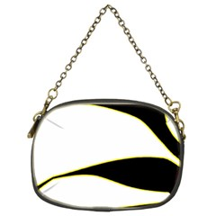 Yellow, Black And White Chain Purses (two Sides)  by Valentinaart