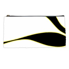 Yellow, Black And White Pencil Cases by Valentinaart