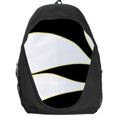 Yellow, Black And White Backpack Bag by Valentinaart