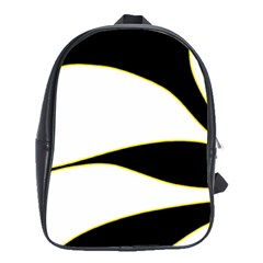 Yellow, Black And White School Bags (xl)  by Valentinaart
