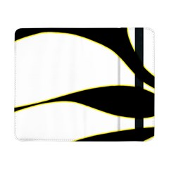 Yellow, Black And White Samsung Galaxy Tab Pro 8 4  Flip Case by Valentinaart