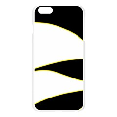 Yellow, black and white Apple Seamless iPhone 6 Plus/6S Plus Case (Transparent) by Valentinaart