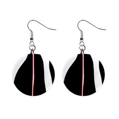 White, Red And Black Mini Button Earrings by Valentinaart