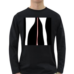 White, Red And Black Long Sleeve Dark T Shirts by Valentinaart