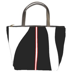 White, Red And Black Bucket Bags by Valentinaart
