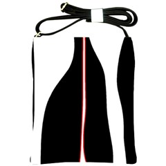 White, Red And Black Shoulder Sling Bags by Valentinaart