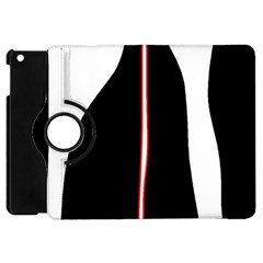 White, Red And Black Apple Ipad Mini Flip 360 Case by Valentinaart