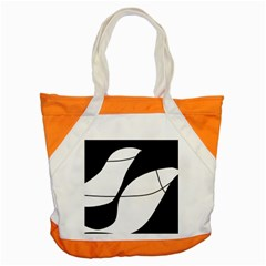 White And Black Shadow Accent Tote Bag by Valentinaart