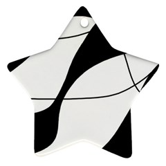 White And Black Shadow Star Ornament (two Sides)  by Valentinaart