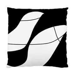 White And Black Shadow Standard Cushion Case (one Side) by Valentinaart