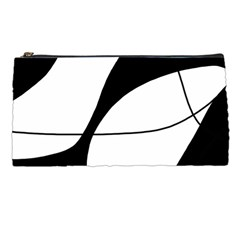White And Black Shadow Pencil Cases by Valentinaart