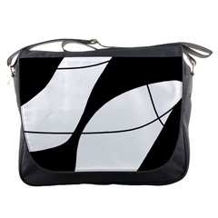 White And Black Shadow Messenger Bags