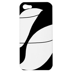 White And Black Shadow Apple Iphone 5 Hardshell Case by Valentinaart