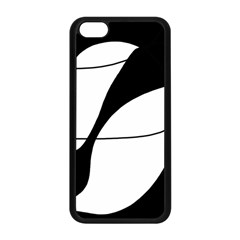 White And Black Shadow Apple Iphone 5c Seamless Case (black) by Valentinaart