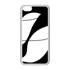 White And Black Shadow Apple Iphone 5c Seamless Case (white) by Valentinaart