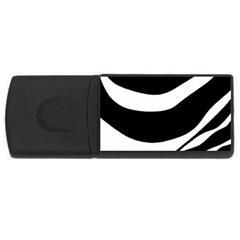 White Or Black Usb Flash Drive Rectangular (4 Gb)  by Valentinaart
