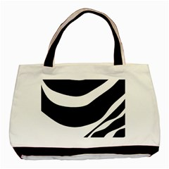 White Or Black Basic Tote Bag by Valentinaart