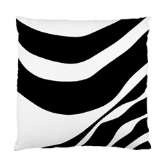 White Or Black Standard Cushion Case (one Side) by Valentinaart