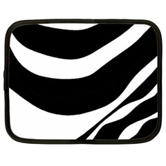 White Or Black Netbook Case (xl)  by Valentinaart