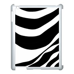 White Or Black Apple Ipad 3/4 Case (white) by Valentinaart