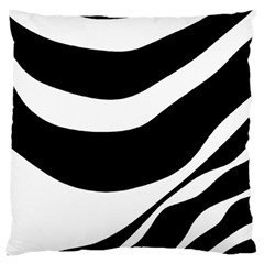 White Or Black Large Flano Cushion Case (one Side) by Valentinaart