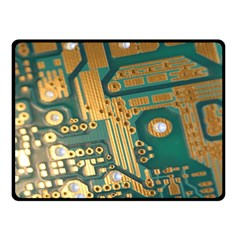 Circuit Computer Plate  Fleece Blanket (Small) by Zeze