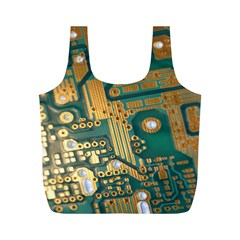 Circuit Computer Plate  Full Print Recycle Bags (M)  by Zeze