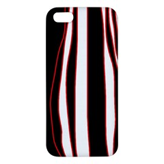 White, Red And Black Lines Iphone 5s/ Se Premium Hardshell Case