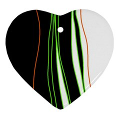 Colorful Lines Harmony Ornament (heart)