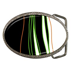 Colorful Lines Harmony Belt Buckles by Valentinaart